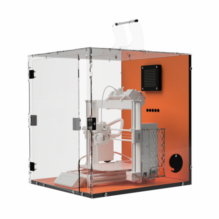 TLX Flame Orange - Enclosure for Prusa i3 MK3s with MMU2s