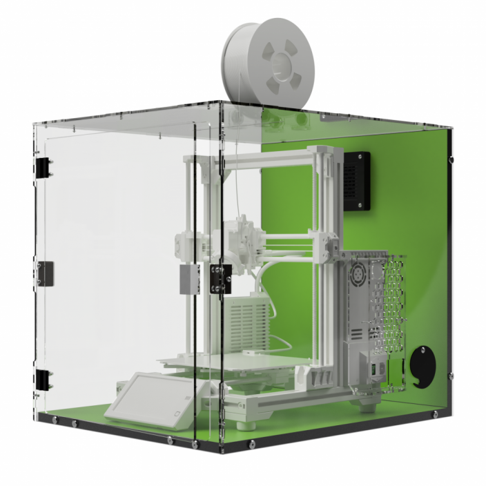 TLX Mamba Green - Enclosure for Caribou MK3s and CaribouDuet 220/320